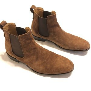 Vince Men's Brown Suede Chelsea Boot Size 8US